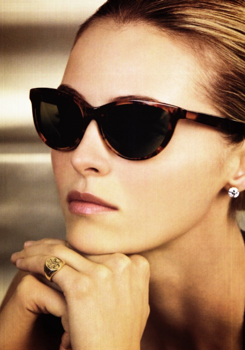 signet ring and sunglasses